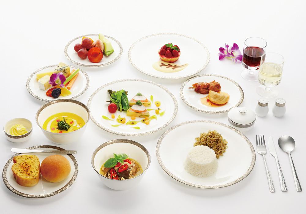 ファーストクラス機内食 イメージ/タイ国際航空