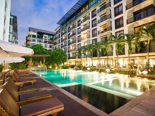 【航空券+ホテル】アマンタ ホテル&レシデンス ラチャダ(1ベッドルーム デラックス シティビュールーム)滞在 バンコク4日間