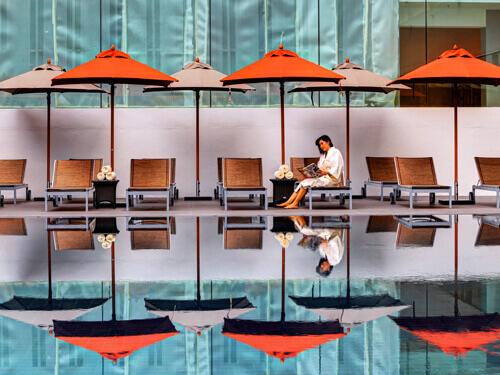 ●1人旅応援●シーロム地区◆AIR&ホテル◆コスパgood!マンダリンバンコク マネージドバイセンターポイント