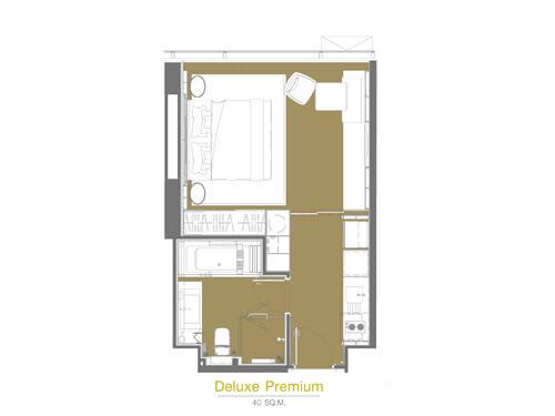 デラックスプレミアルーム 部屋見取り図 イメージ/グランデ・センター・ポイント・ターミナル21