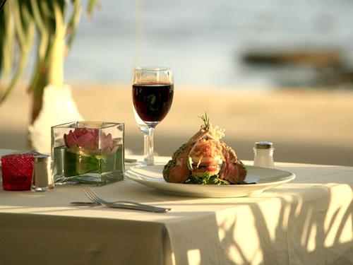 ビーチフロントのレストラン