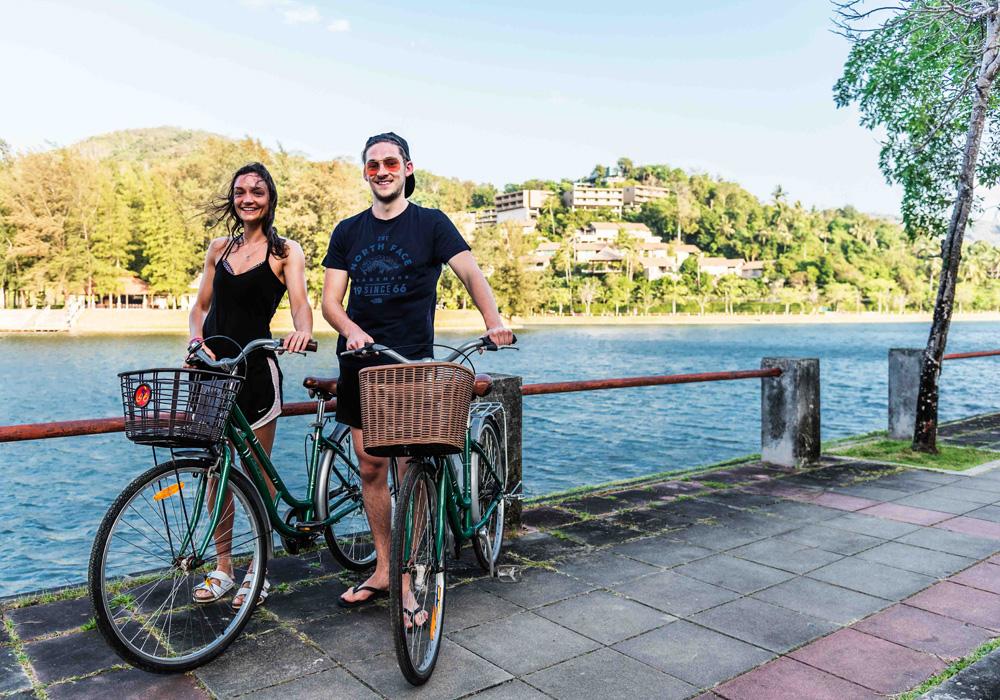 レンタル自転車でサイクリング