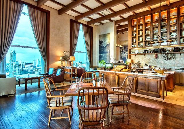 28階に位置するイタリアンレストラン