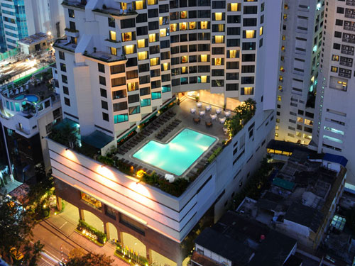 スクンビット地区の便利立地の老舗高層ホテル【レンブラント・バンコク】泊
