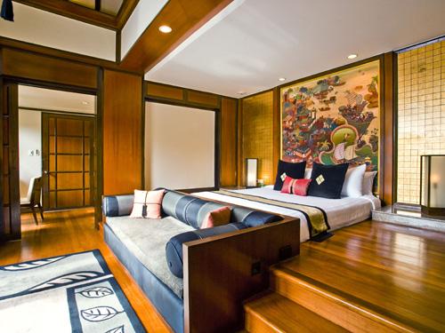 客室一例「シグネチャープールヴィラ」ベッドルーム