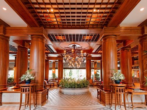 タイ建築のロビー